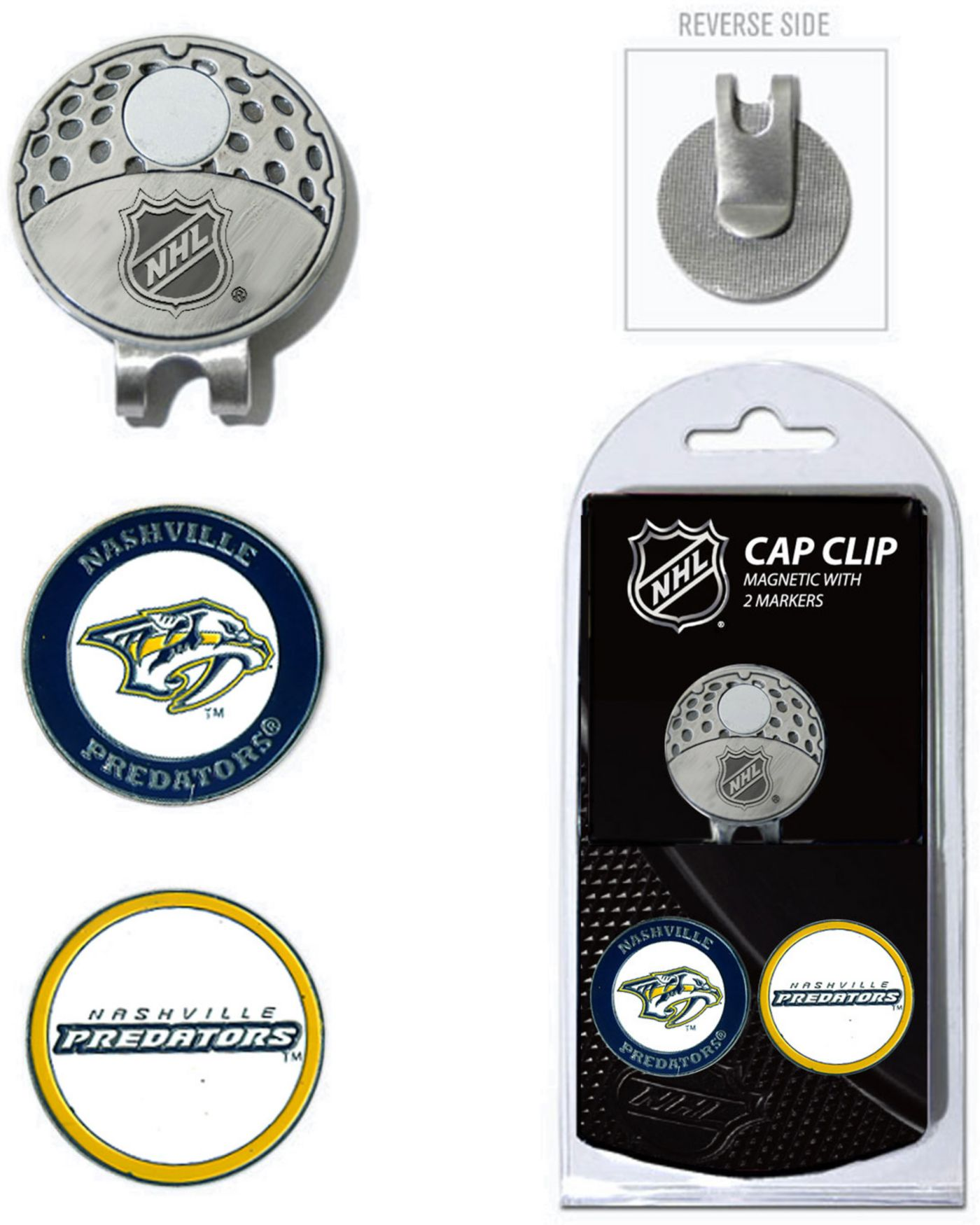 Team Golf Nashville Predators Cap Clip And Marker Set