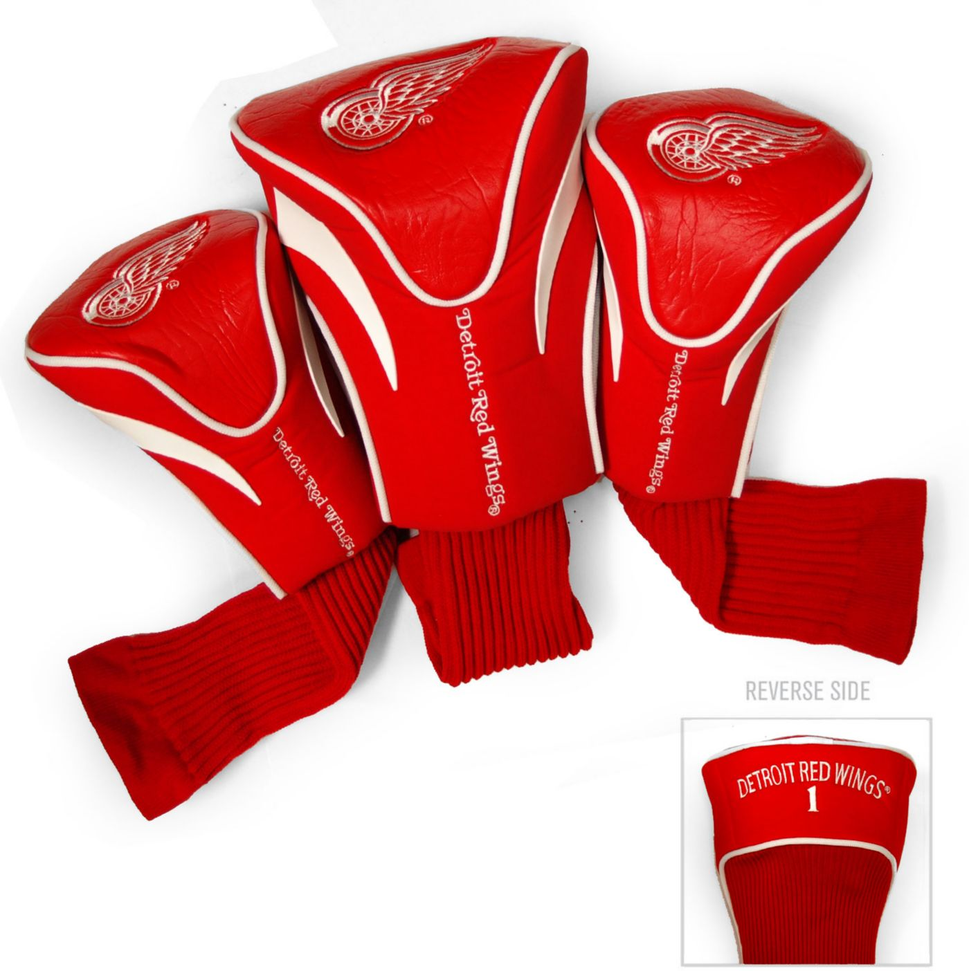 Team Golf Detroit Red Wings 3-Pack Contour Headcovers