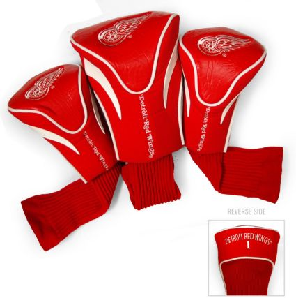 Team Golf Detroit Red Wings Contour Sock Headcovers - 3 Pack
