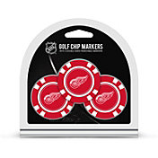 Team Golf Detroit Red Wings Poker Chips Ball Markers - 3-Pack