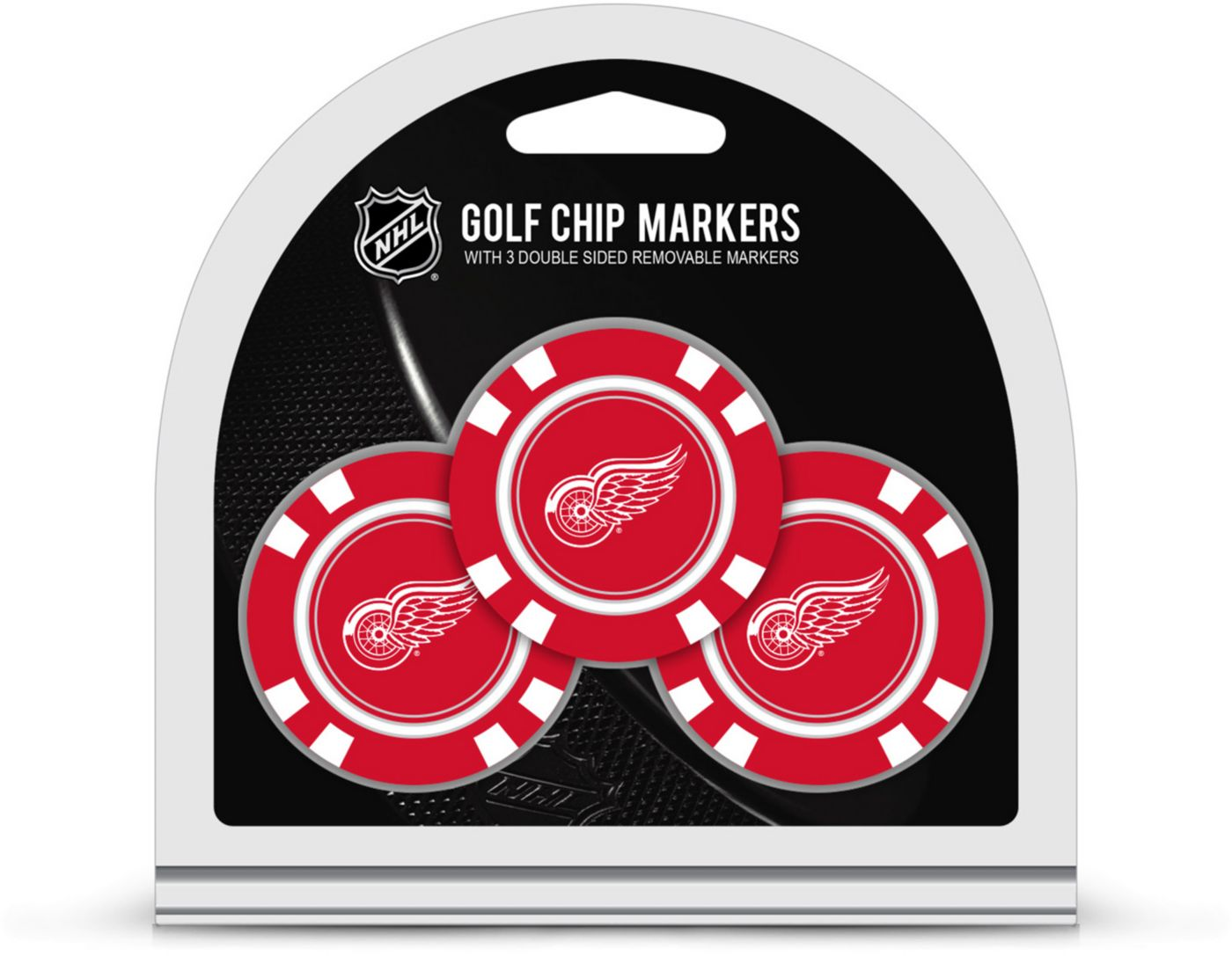 Team Golf Detroit Red Wings Golf Chips - 3 Pack