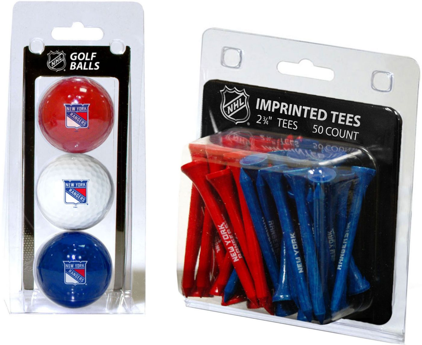Team Golf New York Rangers 3 Ball/50 Tee Combo Gift Pack