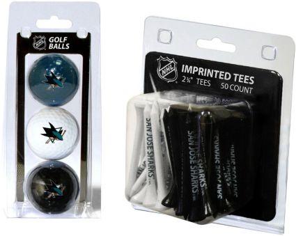 Team Golf San Jose Sharks 3 Ball/50 Tee Combo Gift Pack
