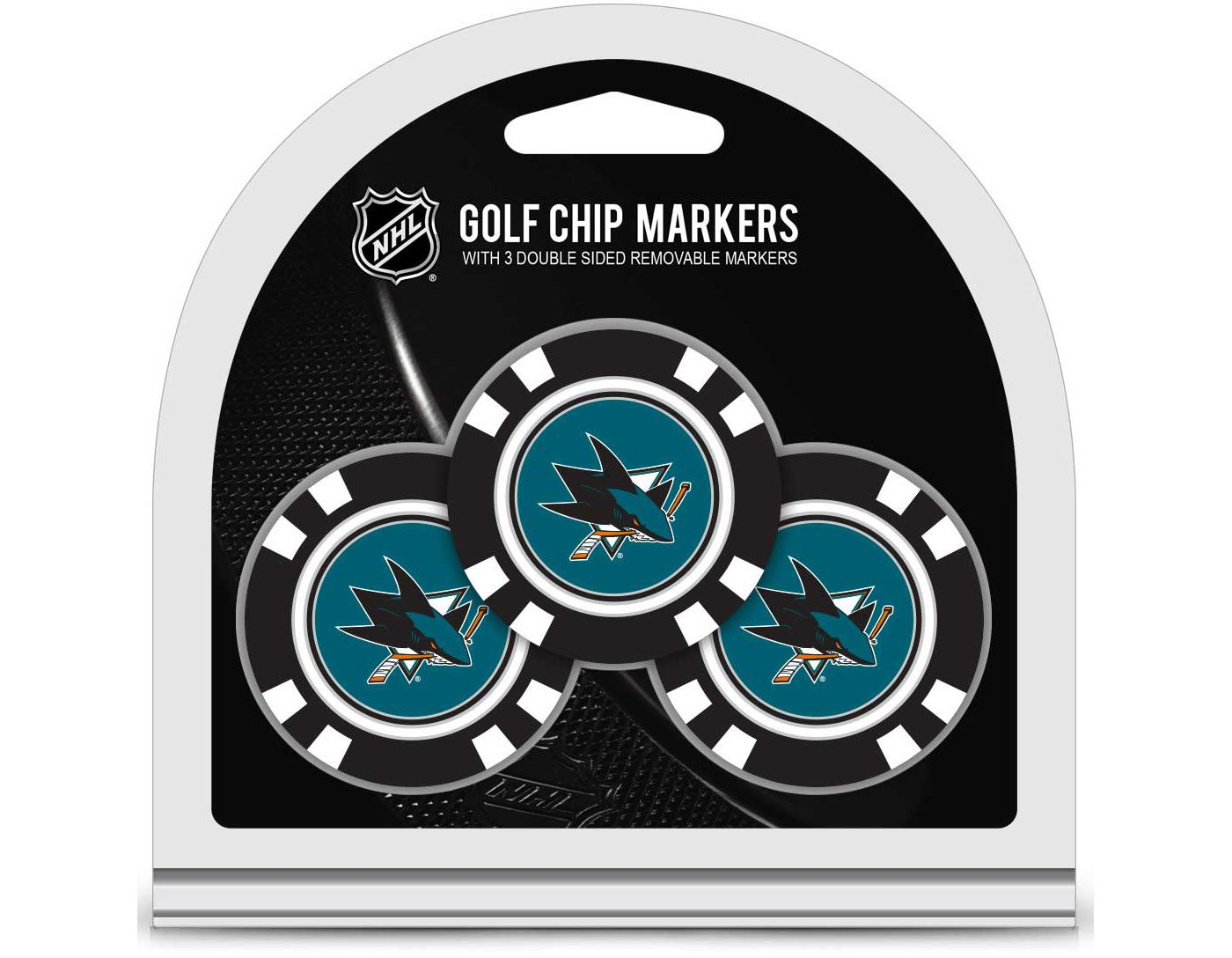 Team Golf San Jose Sharks Golf Chips - 3 Pack