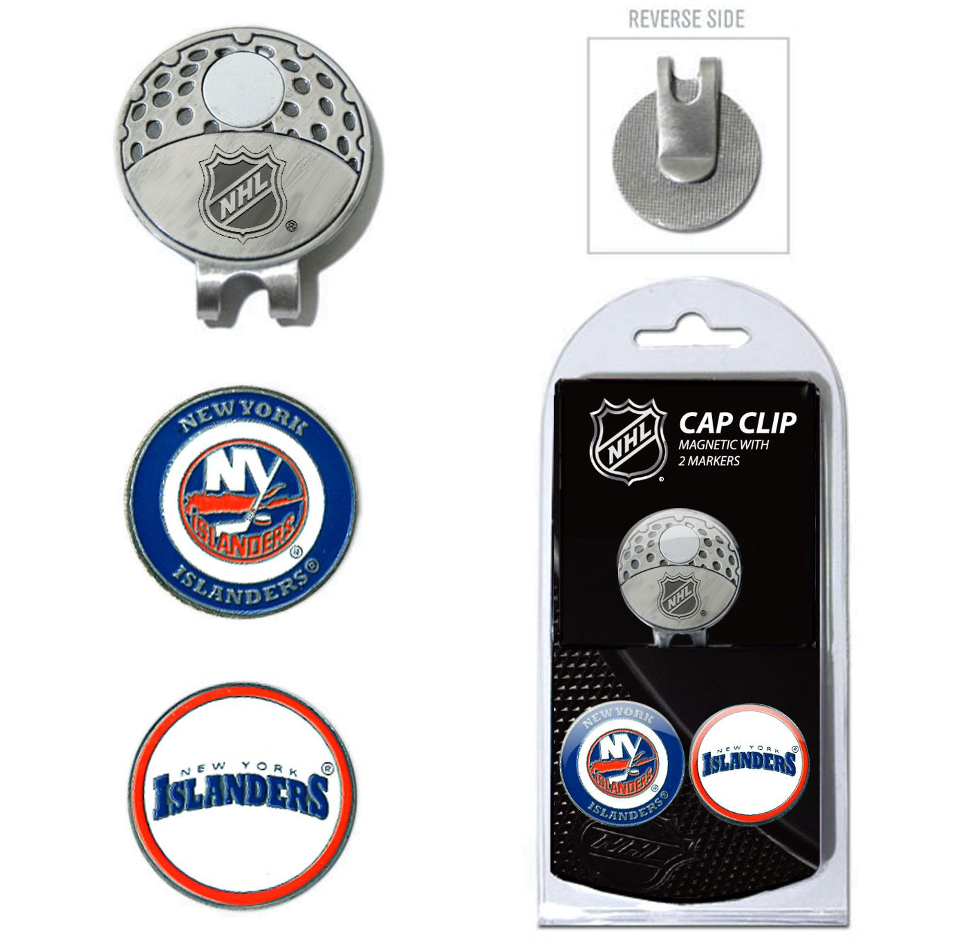 Team Golf New York Islanders Cap Clip And Marker Set