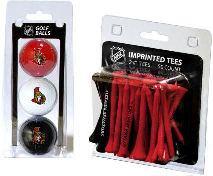 Team Golf Ottawa Senators 3 Ball/50 Tee Combo Gift Pack