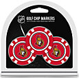 Team Golf Ottawa Senators Poker Chips Ball Markers - 3-Pack