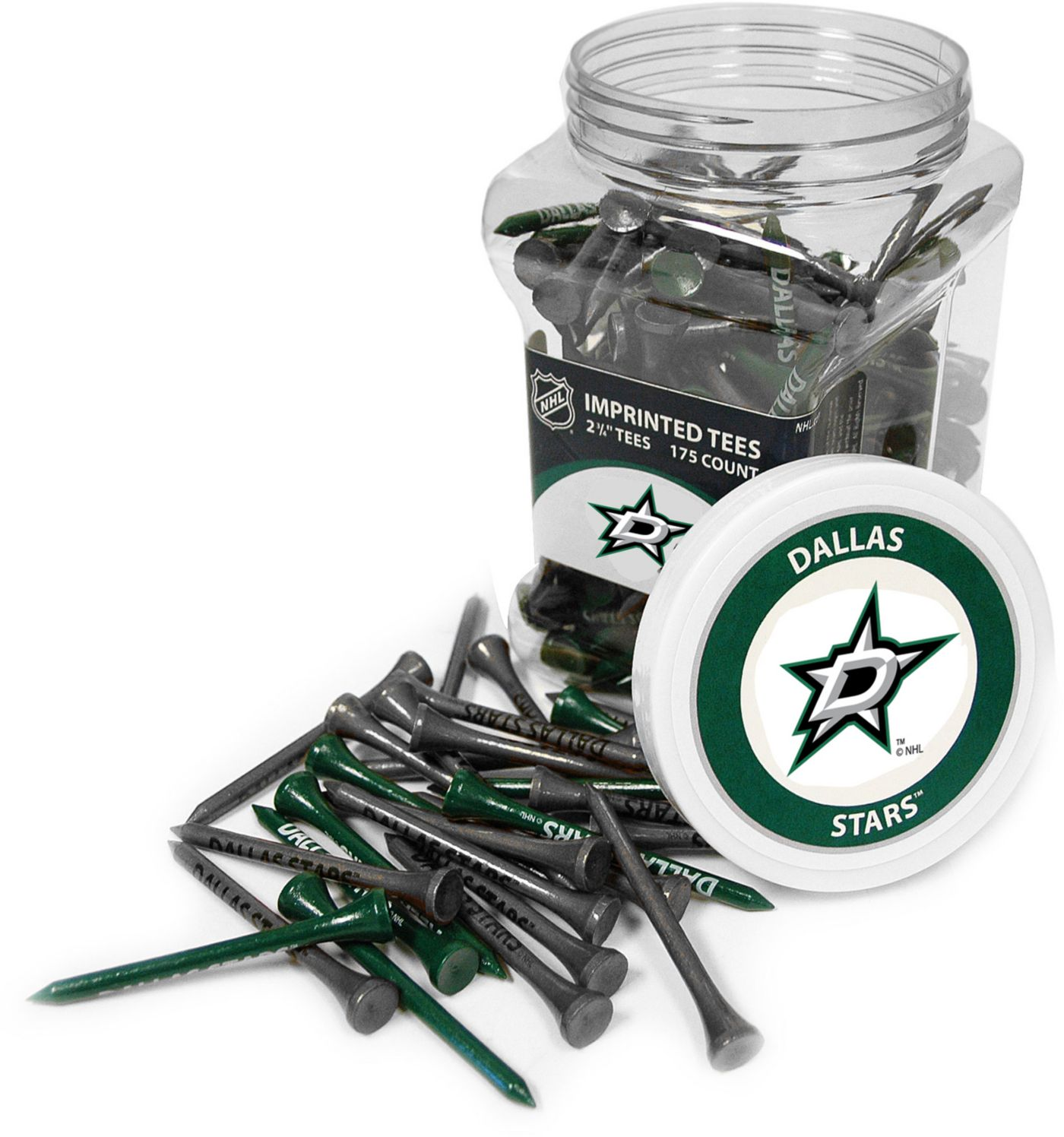 Team Golf Dallas Stars 175 Count Golf Tee Jar