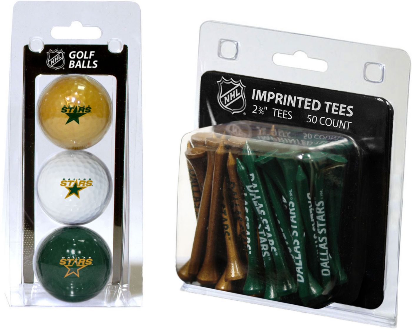 Team Golf Dallas Stars 3 Ball/50 Tee Combo Gift Pack