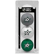 Team Golf Dallas Stars Three Pack Golf Ball Set