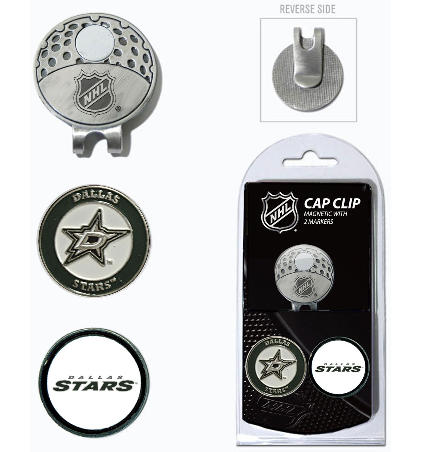 Team Golf Dallas Stars Cap Clip And Marker Set