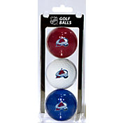 Team Golf Colorado Avalanche Three Pack Golf Ball Set
