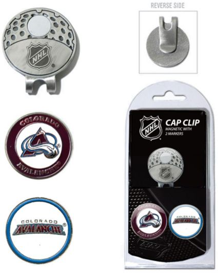 Team Golf Colorado Avalanche Cap Clip And Marker Set