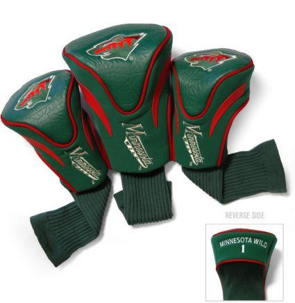 Team Golf Minnesota Wild Contour Sock Headcovers - 3 Pack