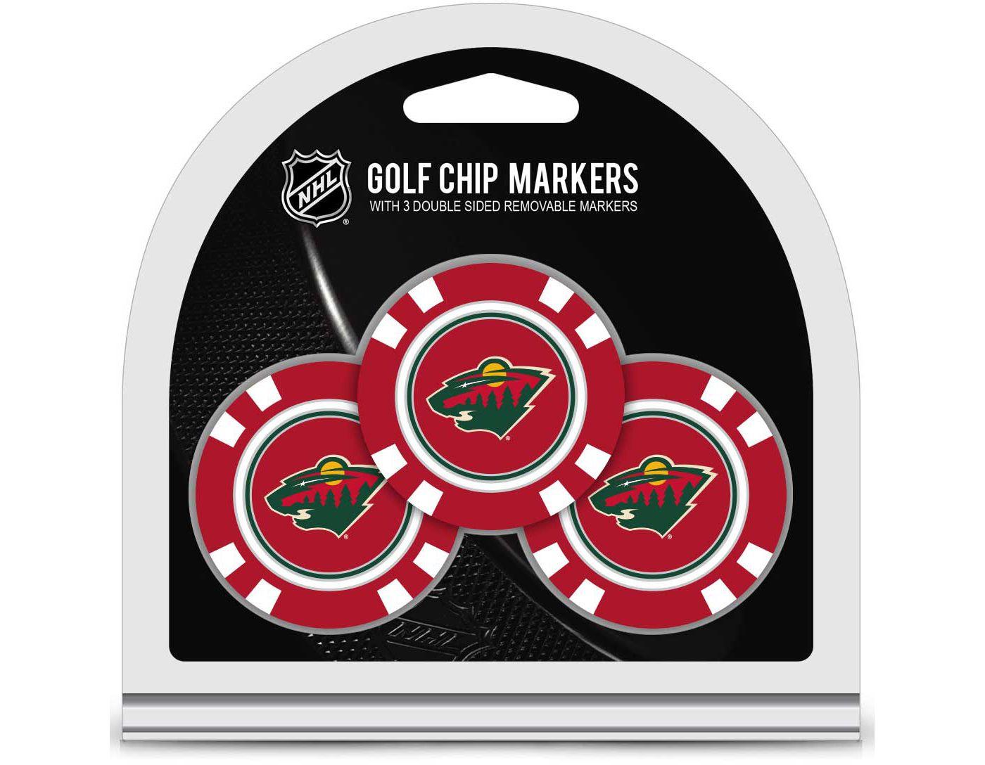 Team Golf Minnesota Wild Golf Chips - 3 Pack