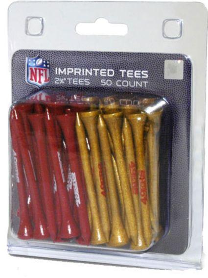 "Team Golf San Francisco 49ers 2 3/4"" Golf Tees - 50 Pack"