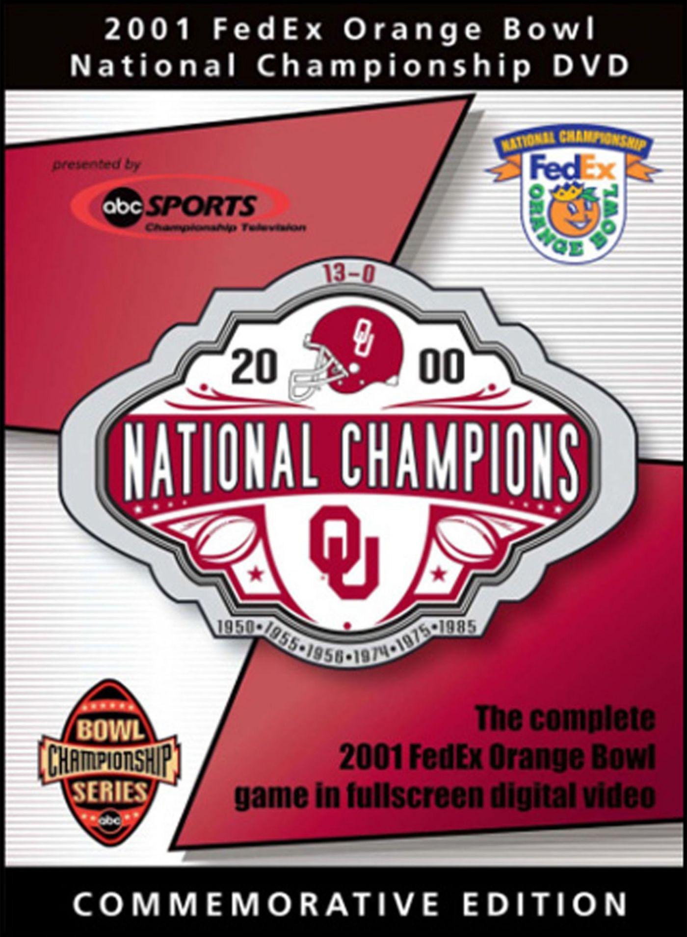 2001 FedEx Orange Bowl Game: Oklahoma Sooners vs. Florida State Seminoles DVD