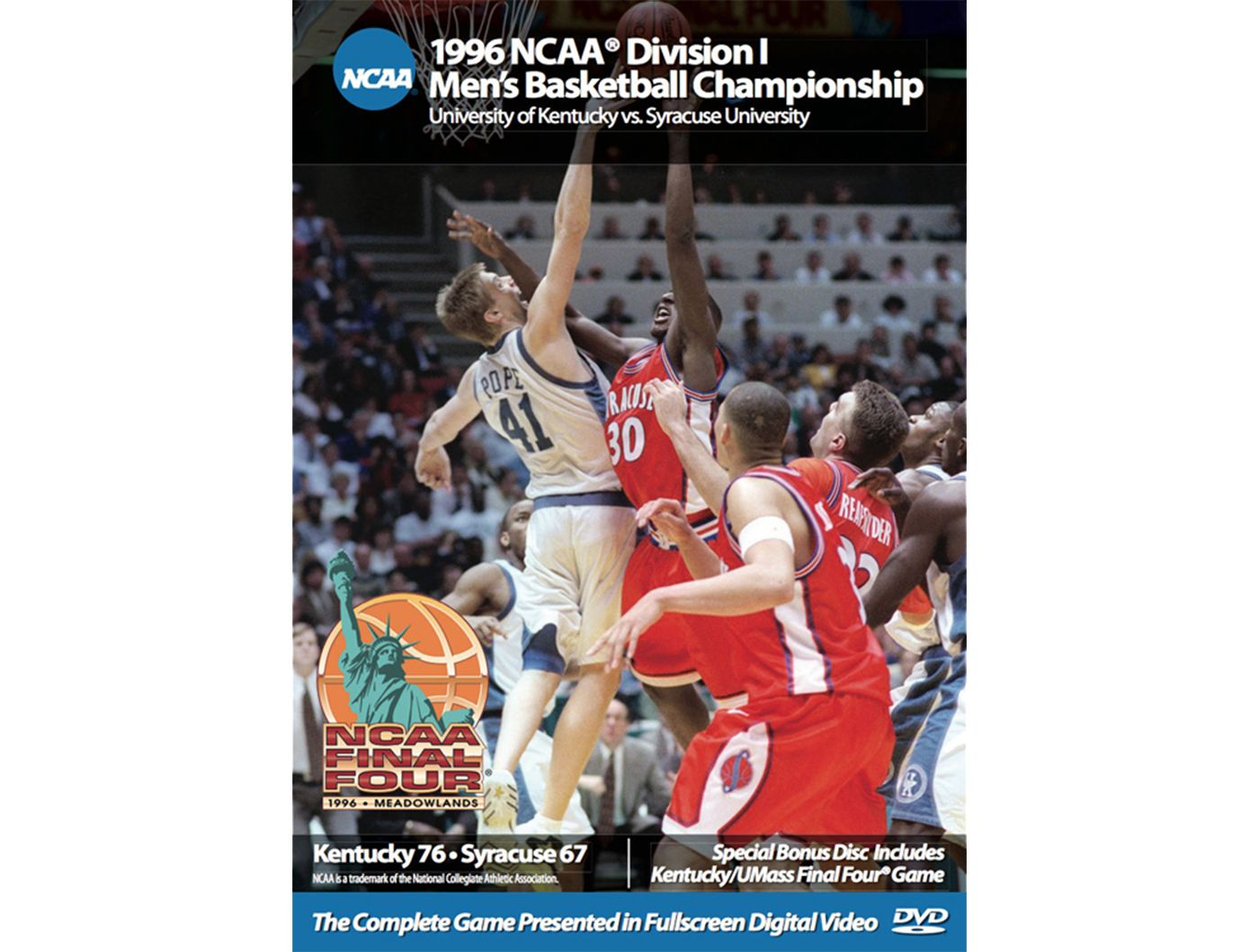 1996 NCAA Men's Basketball Championship Game - Kentucky vs. Syracuse DVD