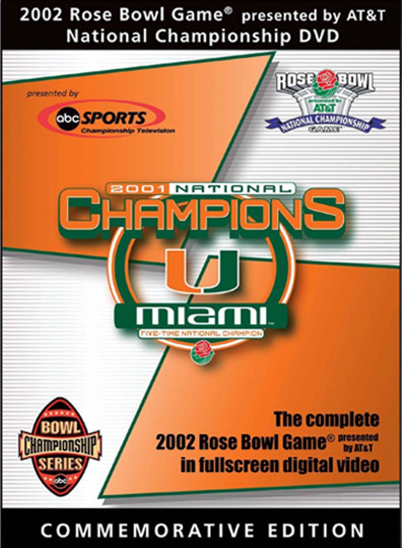 2002 Rose Bowl Game: Miami Hurricanes vs. Nebraska Cornhuskers DVD
