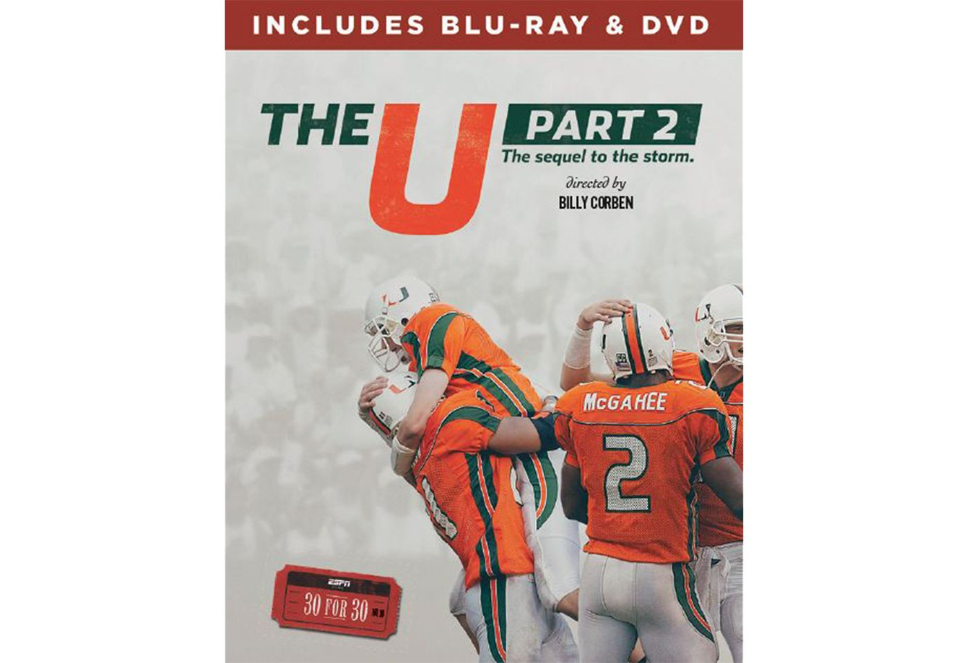 ESPN Films 30 for 30: The U, Part 2 DVD and Blu-ray Combo