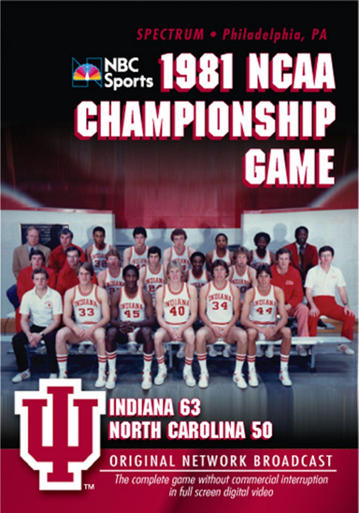 1981 NCAA Men's Basketball National Championship Game: Indiana vs. UNC DVD