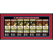 That's My Ticket St. Louis Cardinals 2011 World Series Framed Printed Ticket Collection