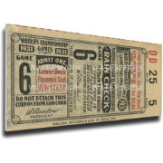 That's My Ticket Cardinals 1931 World Series Canvas Mega Ticket