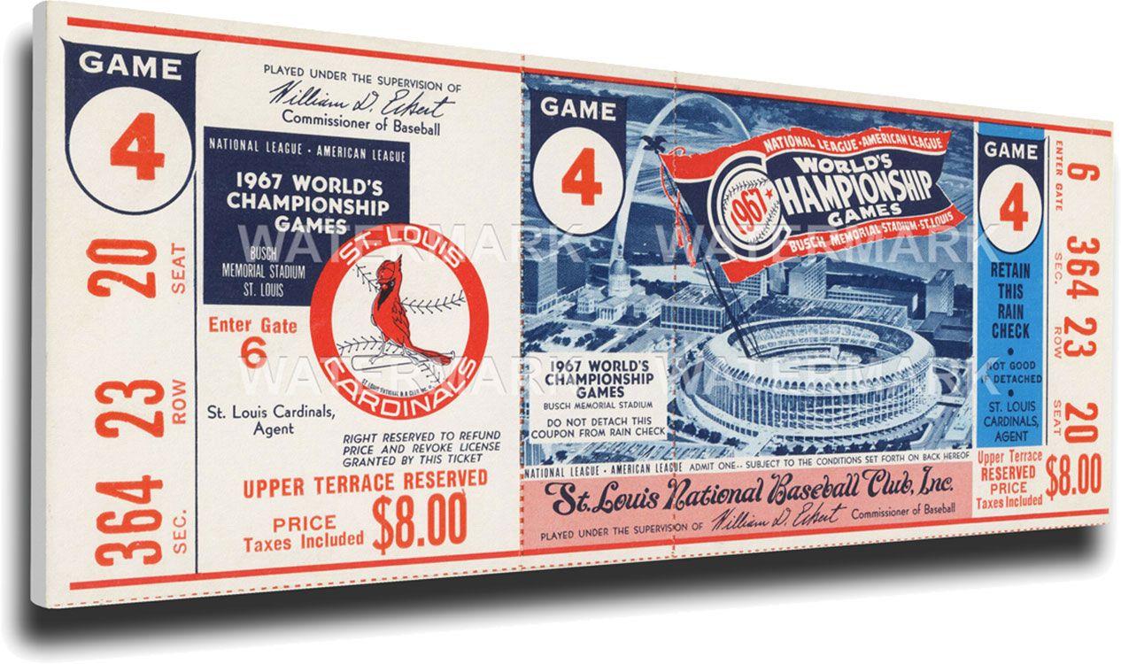 Thats My Ticket St Louis Cardinals 1967 World Series Canvas Mega