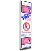 That's My Ticket St. Louis Cardinals 1982 World Series Canvas Mega Ticket