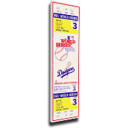 That's My Ticket Los Angeles Dodgers 1981 World Series Canvas Mega Ticket