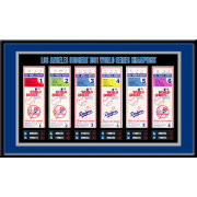 That's My Ticket Los Angeles Dodgers 1981 World Series Framed Printed Ticket Collection