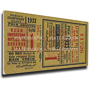 That's My Ticket New York Giants 1933 World Series Canvas Mega Ticket