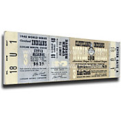 That's My Ticket Indians 1948 World Series Canvas Mega Ticket