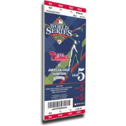 That's My Ticket Philadelphia Phillies 2008 World Series Canvas Mega Ticket