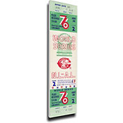 That's My Ticket Cincinnati Reds 1976 World Series Canvas Mega Ticket