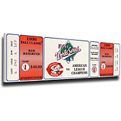 That's My Ticket Cincinnati Reds 1990 World Series Canvas Mega Ticket