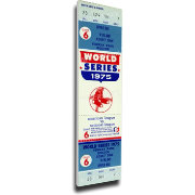 That's My Ticket Boston Red Sox 1975 World Series Carlton Fisk Home Run Canvas Mega Ticket
