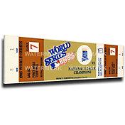 That's My Ticket Kansas City Royals 1985 World Series Canvas Mega Ticket