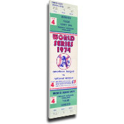 That's My Ticket Okland Athletics 1974 World Series Canvas Mega Ticket