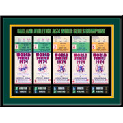 That's My Ticket Oakland Athletics 1974 World Series Framed Printed Ticket Collection