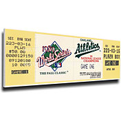 That's My Ticket Oakland Athletics 1989 World Series Canvas Mega Ticket