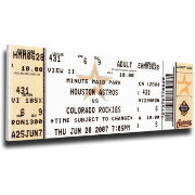 That's My Ticket Houston Astros Craig Biggio 3000 Hits Mega Ticket