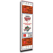That's My Ticket Minnesota Twins 1987 World Series Canvas Mega Ticket