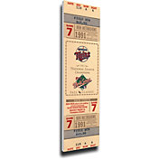 That's My Ticket Minnesota Twins 1991 World Series Canvas Mega Ticket
