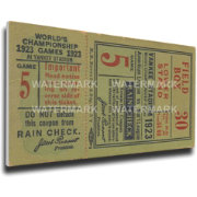 That's My Ticket New York Yankees 1923 World Series Canvas Mega Ticket