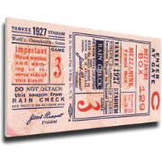That's My Ticket New York Yankees 1927 World Series Canvas Mega Ticket