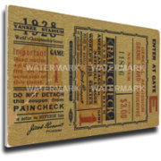 That's My Ticket New York Yankees 1928 World Series Canvas Mega Ticket