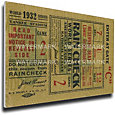That's My Ticket New York Yankees 1932 World Series Canvas Mega Ticket