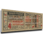 That's My Ticket Yankees 1936 World Series Canvas Mega Ticket