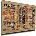 That's My Ticket New York Yankees 1937 World Series Canvas Mega Ticket